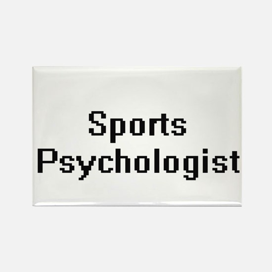 Sports Psychologist Retro Digital Job Desi Magnets