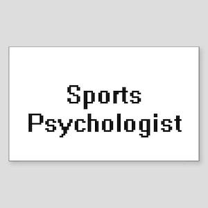 Sports Psychologist Retro Digital Job Desi Sticker