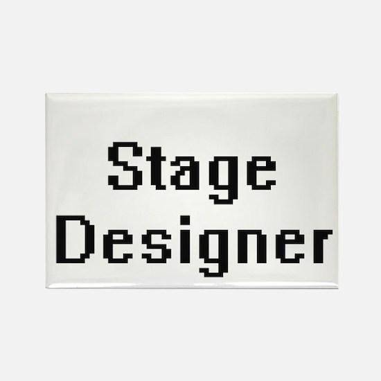 Stage Designer Retro Digital Job Design Magnets