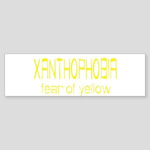 Fear Of Yellow Bumper Sticker