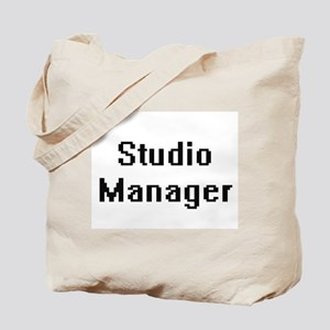 Studio Manager Retro Digital Job Design Tote Bag