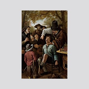 The Tooth Puller - Jan Steen Rectangle Magnet