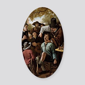 The Tooth Puller - Jan Steen Oval Car Magnet