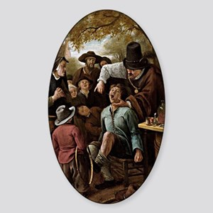The Tooth Puller - Jan Steen Sticker (Oval)