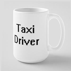 Taxi Driver Retro Digital Job Design Mugs