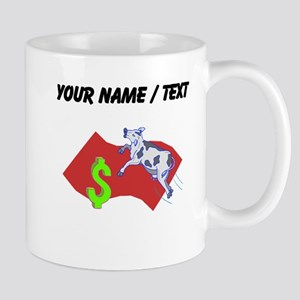 Cow Jumping Over Money (Custom) Mugs