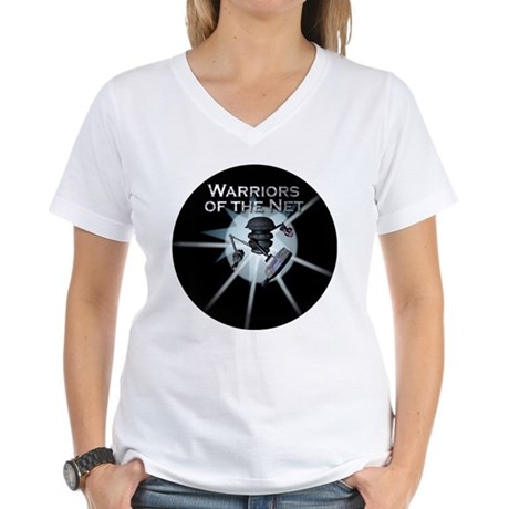 Warriors of the Net Women's V-Neck T-Shirt