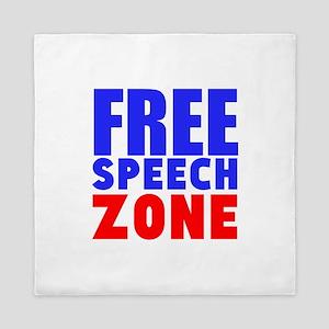 Free Speech Zone Queen Duvet
