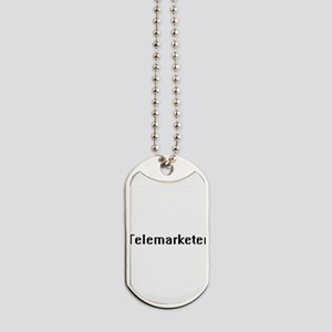 Telemarketer Retro Digital Job Design Dog Tags