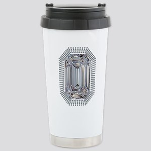 Diamond Pin Stainless Steel Travel Mug