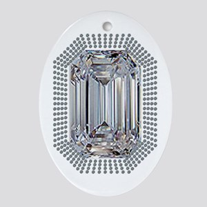 Diamond Pin Ornament (Oval)