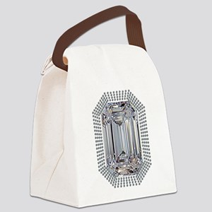Diamond Pin Canvas Lunch Bag