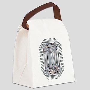 Diamond Pin Canvas Lunch Bag