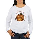 Gaelic Carved Pumpkin Women's Long Sleeve T-Shirt