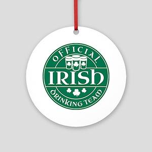 Official Irish Drinking Team Ornament (Round)