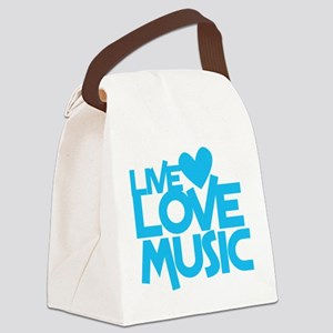 LIVE LOVE MUSIC Canvas Lunch Bag