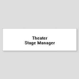 Theater Stage Manager Retro Digital Bumper Sticker