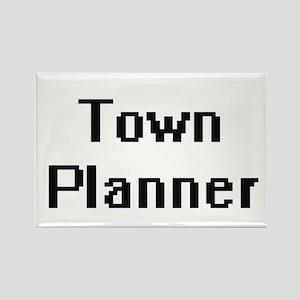 Town Planner Retro Digital Job Design Magnets
