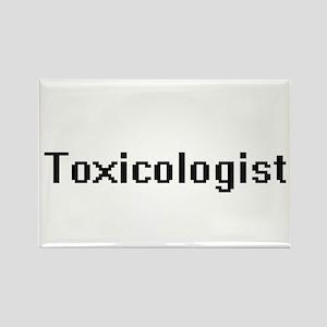 Toxicologist Retro Digital Job Design Magnets