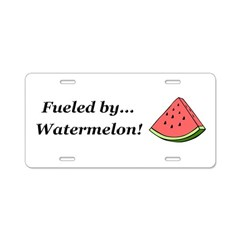 Fueled by Watermelon Aluminum License Plate