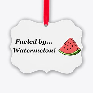 Fueled by Watermelon Picture Ornament