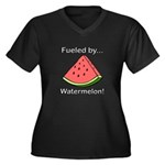 Fueled by Wa Women's Plus Size V-Neck Dark T-Shirt