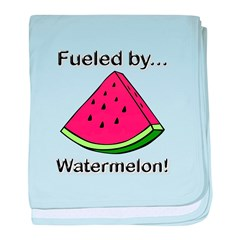 Fueled by Watermelon baby blanket