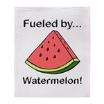 Fueled by Watermelon Throw Blanket
