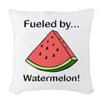 Fueled by Watermelon Woven Throw Pillow