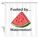 Fueled by Watermelon Shower Curtain
