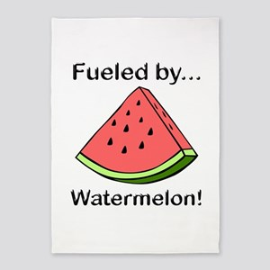 Fueled by Watermelon 5'x7'Area Rug