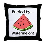 Fueled by Watermelon Throw Pillow