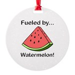 Fueled by Watermelon Round Ornament