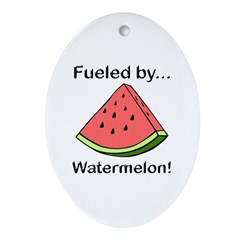 Fueled by Watermelon Ornament (Oval)