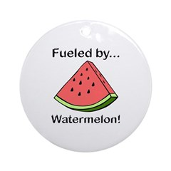 Fueled by Watermelon Ornament (Round)