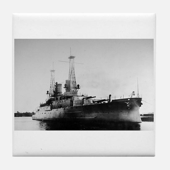 USS Michigan Tile Coaster