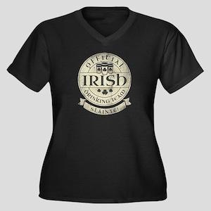 Official Irish Drinking Team Women's Plus Size V-N