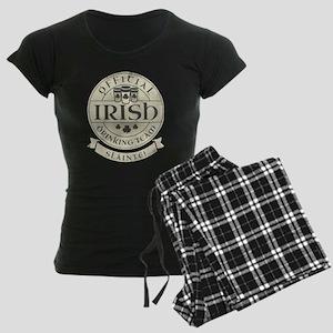 Official Irish Drinking Team Women's Dark Pajamas