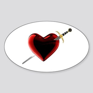 Stabbed In The Heart Sticker