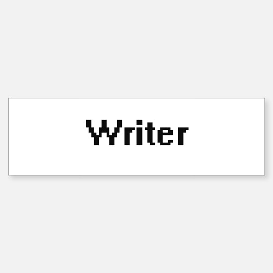Writer Retro Digital Job Design Bumper Bumper Bumper Sticker