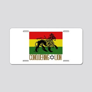 Conquering Lion Aluminum License Plate