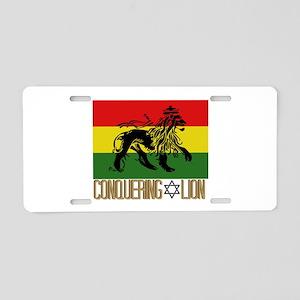Conquering Lion Aluminum License Plate