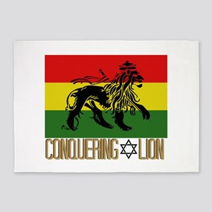 Conquering Lion 5'x7'Area Rug