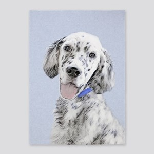 English Setter (Blue Belton) 5'x7'Area Rug