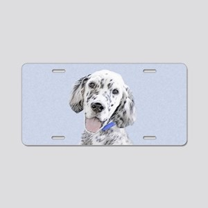 English Setter (Blue Belton Aluminum License Plate