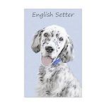 English Setter (Blue Belton) Mini Poster Print