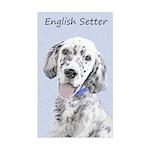 English Setter (Blue Belton) Sticker (Rectangle)