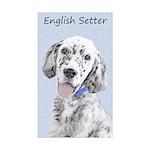 English Setter (Blue Bel Sticker (Rectangle 50 pk)