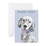English Setter (Blue Bel Greeting Cards (Pk of 10)