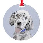 English Setter (Blue Belton) Round Ornament